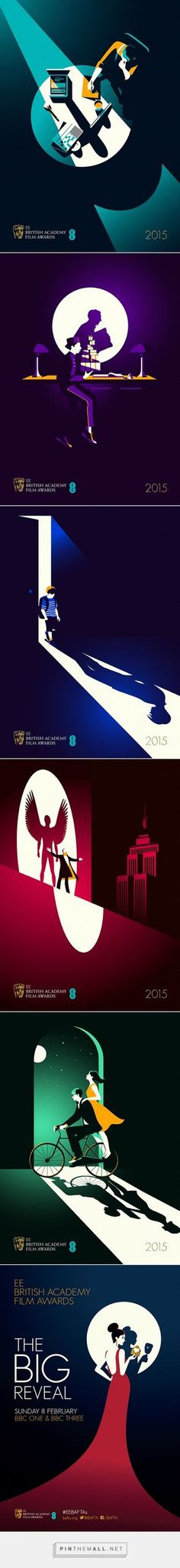 Malika Favre's terrific film noir-inspired posters for UK film's big night, the BAFTAs - created via http://pinthemall.net