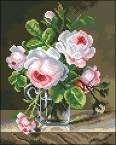 Cross Stitch Boarders, Cross Stitch Bird, Cross Stitch Patterns, Wool Embroidery, Bird Cage, Needlepoint, Floral Wreath, Wreaths, Flowers