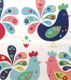 Novelty Fabric-Chickens