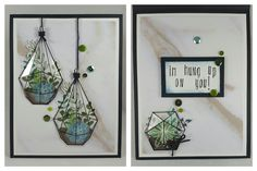 Cactus Terrarium, Handmade Stamps, Cards For Friends, Stamping, Card Stock, Cord, Succulents, Marble, Gallery Wall