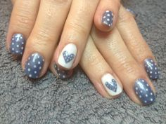 Bio Sculpture Denim with White dots