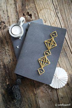 WONDERWOOD.no: DIY Embroidered Notebooks