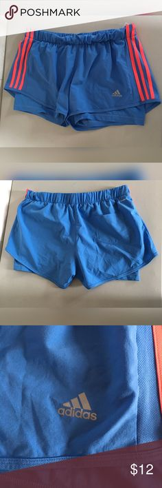 Adidas Climalite Womens Running Shorts Blue Large Great used condition, no flaws Shorts