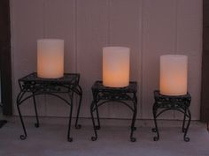 Create a nice backyard ambience with soft light from wax shell luminaries.  designbycandlelightaz@gmail.com