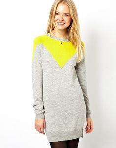 Immagine 1 di ASOS - Vestito maglia con dettaglio a V
