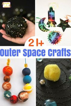 """Creative Outer Space Crafts and Activities That Are a """"Blast!"""" Kids will have a blast making these creative and fun outer space crafts. These crafts would be perfect for a space theme or summer kids crafts. Outer Space Crafts For Kids, Space Activities For Kids, Space Preschool, Summer Crafts For Kids, Science For Kids, Preschool Crafts, Kids Crafts, Art For Kids, Summer Kids"""