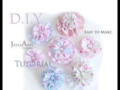 Quick & Easy JessaAbby Fabric Flower Tutorial!!! - YouTube