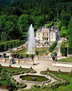 Linderhof Palace in Ettal - Bavaria, Germany