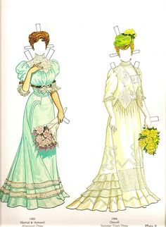 La Belle Époque (1) | Gabi's Paper Dolls* 1500 free paper dolls at Arielle Gabriel's International Paper Doll Society for other paper doll Pinterest pals...*