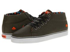 Vegan shoes! Emerica The Tempster Olive/Orange - Zappos.com Free Shipping BOTH Ways