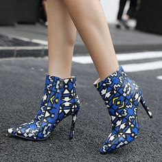 Autumn and Winter Fashion Stiletto High Heel Pointed Head Women& Boots Color Matching Leather Boots Good stuff with decent price - a shopping website which will bring users the best experience and lowest price. High Heels Stilettos, Stiletto Heels, Shoes Heels, Shoes Sneakers, Shoe Boots, Women's Boots, Fashion Heels, Fashion Dresses, Winter Shoes