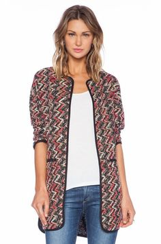 chevron sweater coat