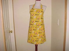 Full Apron Reversible Pittsburgh Steelers Print for by bestdoilies, $30.00