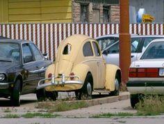 Compressed Volkswagen Beetle