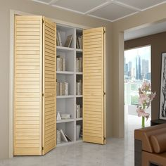 High Quality Vertical Grain   Two Inch Wide Slats   Unfinished Pine   FSC  Certified. Louvered Interior DoorsFolding Closet ...
