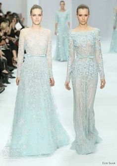 Loveeeee. The one on the right is a perfect bridal shower dress. Or wedding dress...something blue