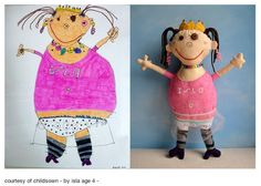 toys made from a child's drawing ...