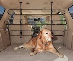 The Solvit Deluxe Tubular Car Barrier reduces distractions when you travel with your dog. The Solvit Deluxe Tubular Car Barrier improves safety by keeping your dog in the back, thus reducing driver di