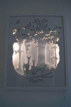 Shadow box ideas paper cut Handmade paper diorama Paper Cut Art Light Boxes