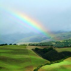 Winter Rainbow in Carmel Valley, California