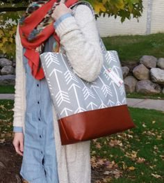 Arrow diaper bag ready to ship arrow tote bag and by JessieBlume