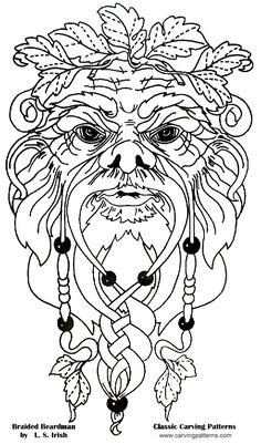 wood burning patterns free | ... , Introduction to Carving Wood Spirits, Instruction and Patterns