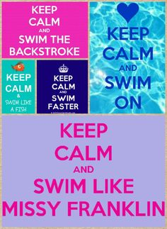 Keep calm and swim like missy