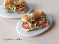 1pcs sandwich  112 scale dollhouse miniature by SugarCharmShop, $8.00