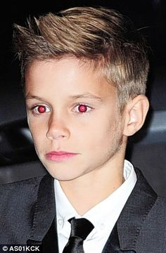 The Rolling Stones: A chip off the old Becks: As Beckham Jnr becomes a model, isn't he JUST like his dad?