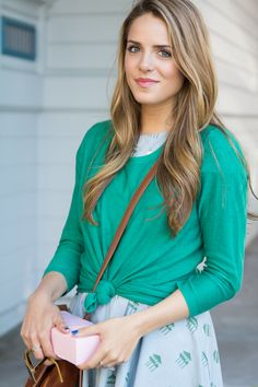 Love the idea of adding a sweater or blouse over a dress to wear it differently!