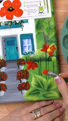 One Stroke Painting, Diy Painting, Beginner Painting, Painting Tutorials, Happy Paintings, Watercolor Paintings, Toddler Art, Diy Canvas Art, Learn To Paint