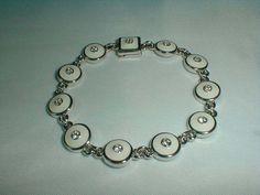 susan graver white enamel bracelet crystals