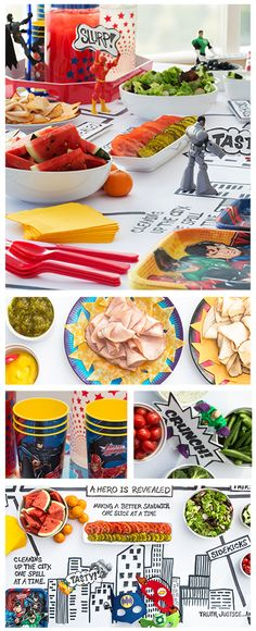 Great party idea! Create a superhero table that turns ordinary meals into epic adventures.