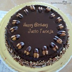 Nuts Birthday Cake For Friend With Name [jatin taneja]