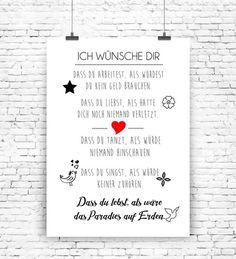 """""""Ich wünsche dir"""" Kunstdruck  von MilaLu auf DaWanda.com"""