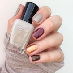 Nail Designs 2016/2017 zoyanailpolish: Autumn Nails! Zoya Nosh Pepper Penny and