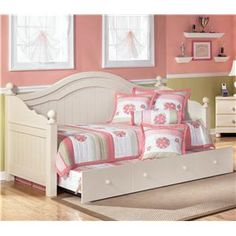 Signature Design by Ashley Cottage Retreat Day Bed with Trundle - VanDrie Home Furnishings - Daybed Cadillac, Traverse City, Big Rapids, Hou...
