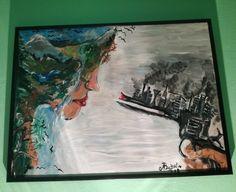 Sad reality... #mypaintings #sad  #gun #nature #world #canvas #acrilyc