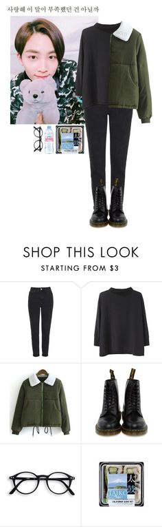 """""""Untitled #290"""" by spisakreka ❤ liked on Polyvore featuring Topshop, Acne Studios, Dr. Martens, GET LOST and Evian"""