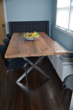 Organic Modern Rustic Dining Table with Hairpin legs on Etsy ...