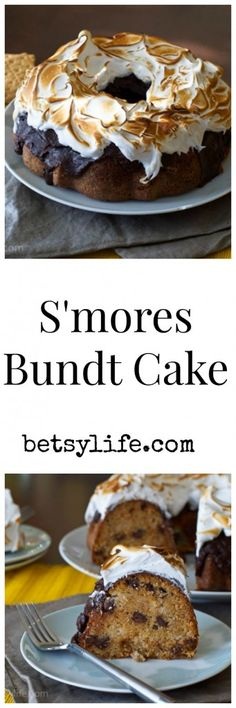 S'mores Bundt Cake Recipe. A fun summer dessert perfect for the 4th of July!