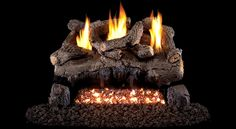 Real Fyre Evening Fyre Split See-Thru Vent Free Gas Logs with Burner Options The Vent Free Evening Fyre Real Fyre Gas Logs have that great deeply cut bark detail that Peterson is famous for. These are some of the most realistic Vent Free logs Ventless Gas Logs, Gas Fireplaces, Fireplace Logs, Gas Log Burner, Free Logs, Oak Logs, Log Home Interiors, Log Home Plans, Log Home Decorating