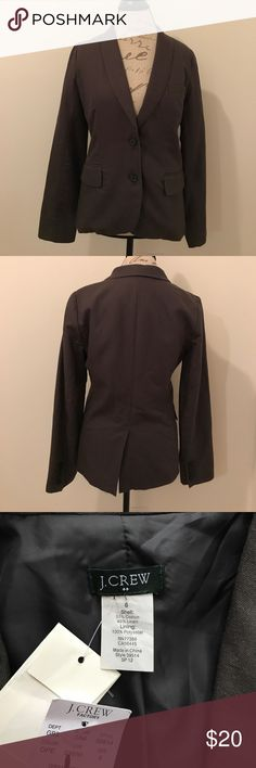 NWT J Crew Gray Suit Jacket / Blazer NWT never worn J Crew suit jacket/blazer. Dark Gray color.  Size 6 loose fit. I bought this recently but too big on me. It's in good condition but not perfect as you can see in last 2 pictures which is reflected in the price. Open to offers. J. Crew Jackets & Coats Blazers