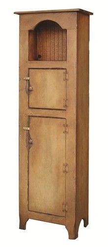 Primitive Furniture Kitchen Hutch Pantry Cupboard Farmhouse Country Cottage USA | eBay