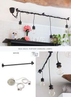 Ikea Hack: DIY Hanging Lights Chandelier | One O DIY