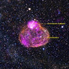 Chandra :: Photo Album :: DEM L50 :: January 28, 2013. Image credit: X-ray: NASA/CXC/Univ of Michigan/A.E.Jaskot, Optical: NOAO/CTIO/MCELS