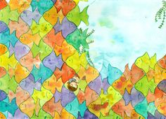P. 14 from Tessalation! a children's picture book by Emily Grosvenor about patterns and wonder.