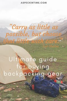 A comphrensive guide to select the right backpacking gear for your adventure. Best Travel Backpack, Packing List For Travel, Travel Tips, Packing Lists, Travel Destinations, Family Adventure, Adventure Travel, Backpacking Tips, Camping Tips