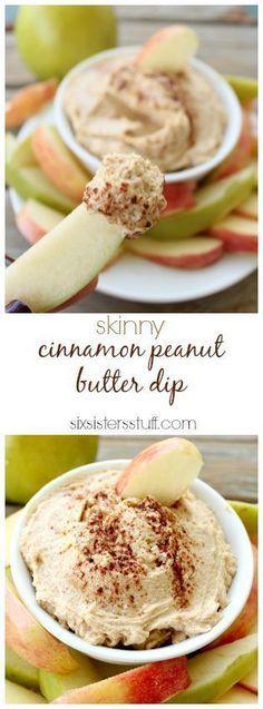 Skinny Cinnamon Peanut Butter Dip | Light cinnamon and peanut butter vdip Creamy Appetizer Recipe | Easy Dip Recipes | Party Food Ideas