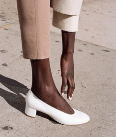 #white shoes #leather #pastel